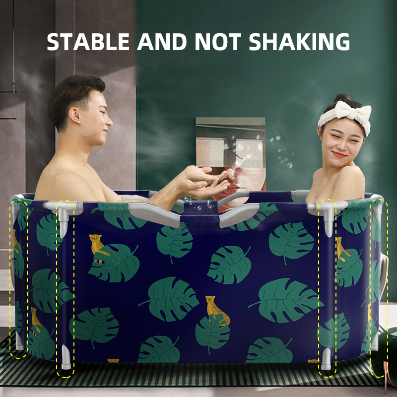 Portable Bathtub Water Tub Folding PVC Adult Spa Bath Bucket Rectangle Home 2