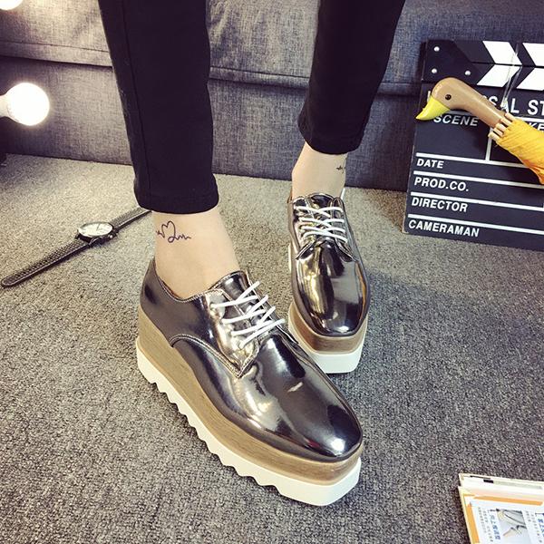 Platform Oxfords Fashion Comfortable Shoes