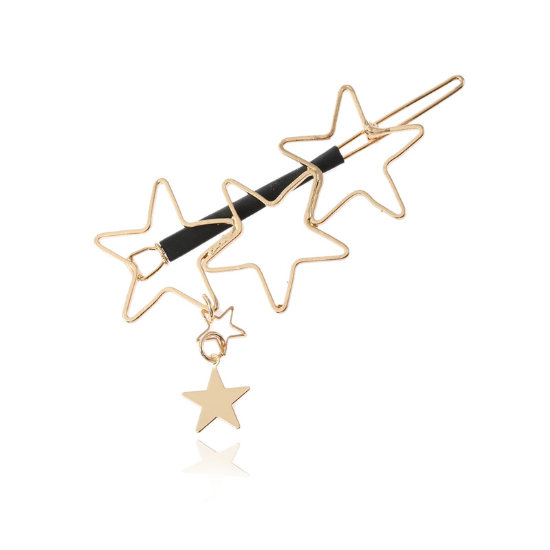 Trendy Hair Accessories Hollow Five Point Stars Alloy H