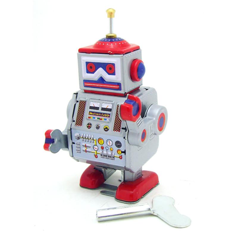 Классический винтаж Заводной ветер до робота Дети Дети Reminiscence олова игрушки с ключом