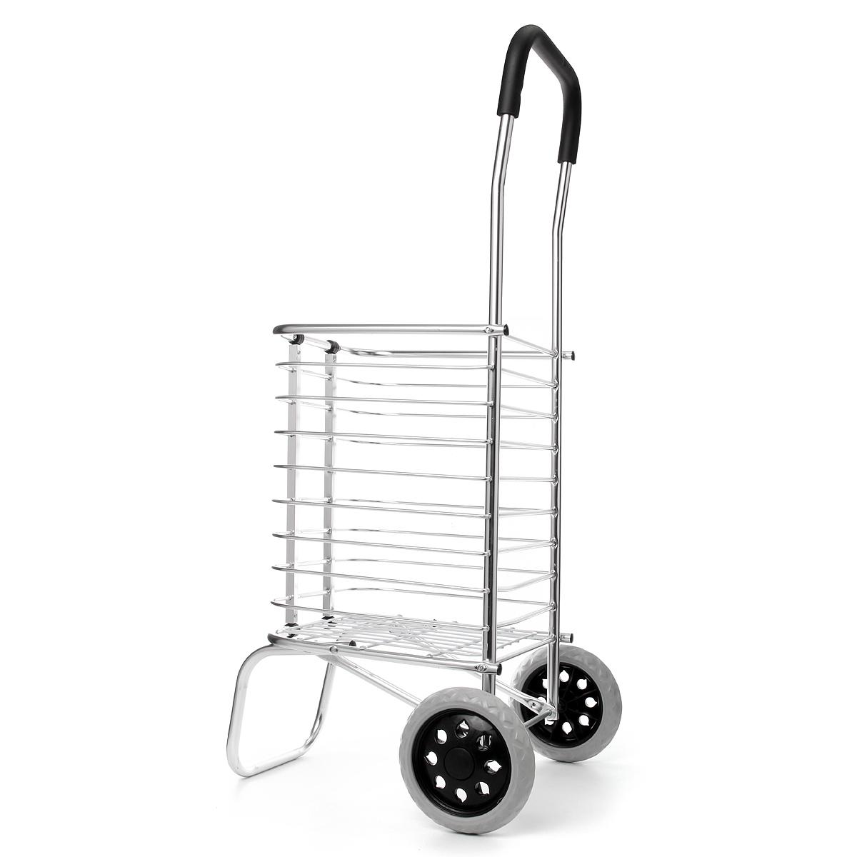 Складной портативный корзина для покупок тележка трейлер два колеса алюминиевого сплава
