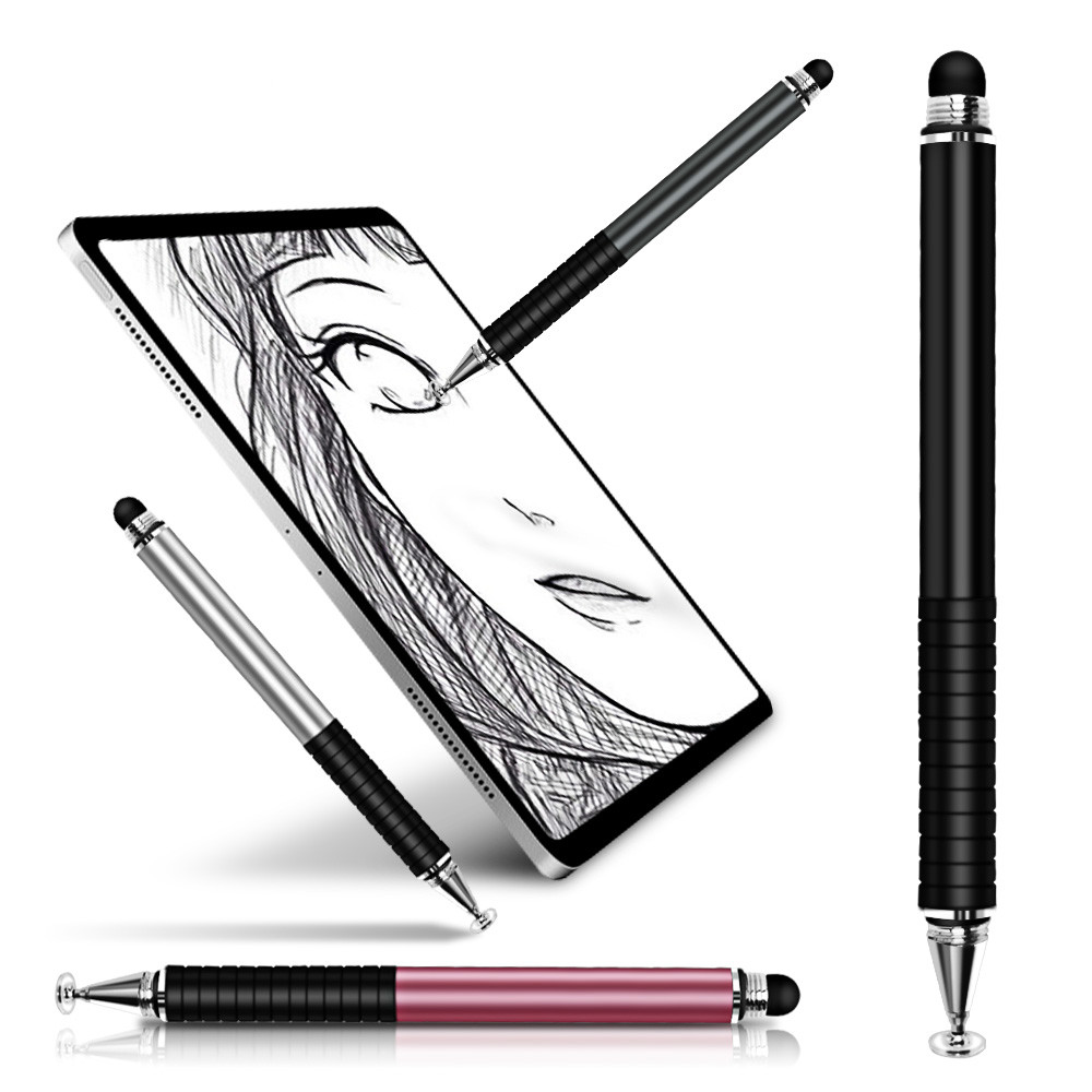 FONKEN Stylus Pen Universal 2 In 1 High Sensitive Double-Headed Capacitive Pen Touch Screen Stylus Drawing Pen for Apple Tablet Android Suitable for Devices Of Capacitive Screens – Black