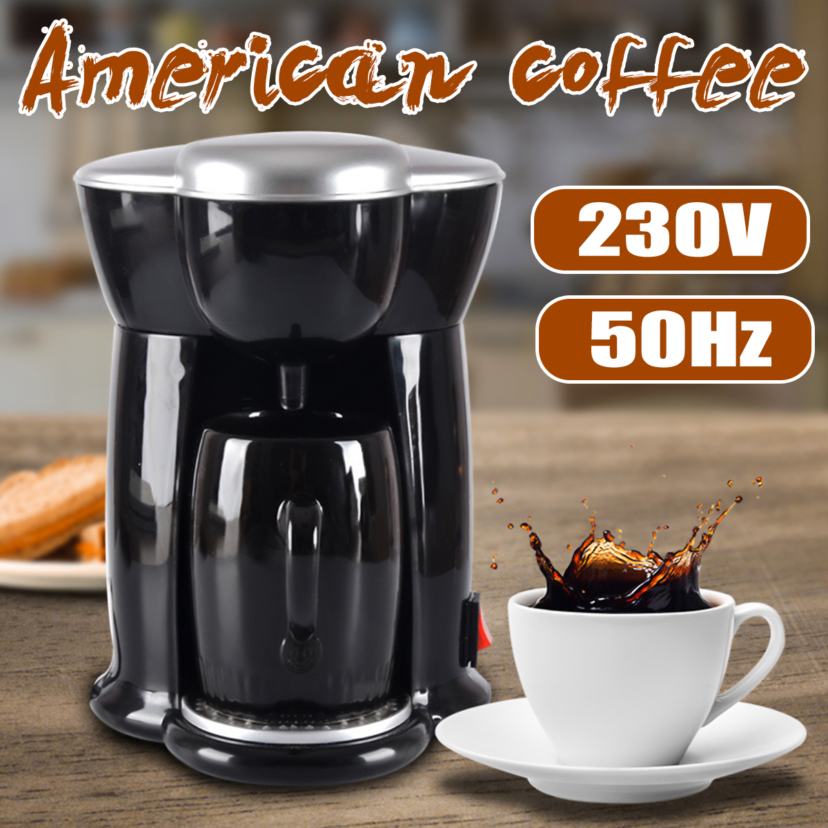 300W Mini Single Cup Drip Coffee Machine Makers Electric Automatic Espresso Machine 14