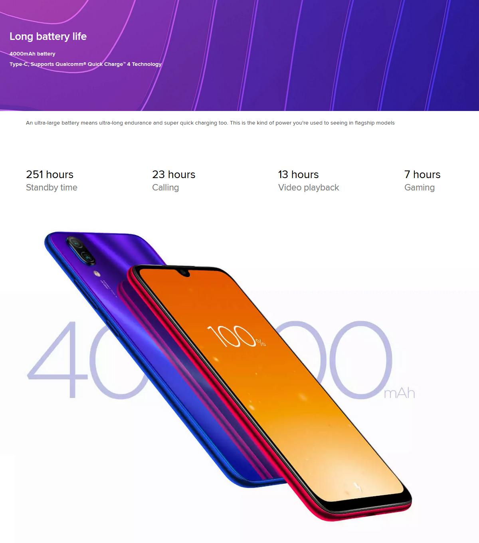 Xiaomi Redmi Note 7 48MP Dual Rear Camera 6 3 inch 3GB RAM 32GB ROM  Snapdragon 660 Octa core 4G Smartphone