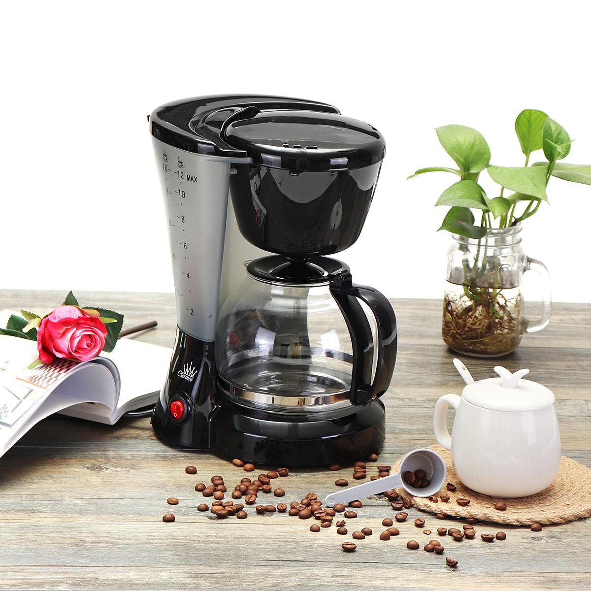 1.2L Electric Drip Coffee Tea Espresso Maker Automatic Filter Machine 10-12 Cups Coffee Machine 17