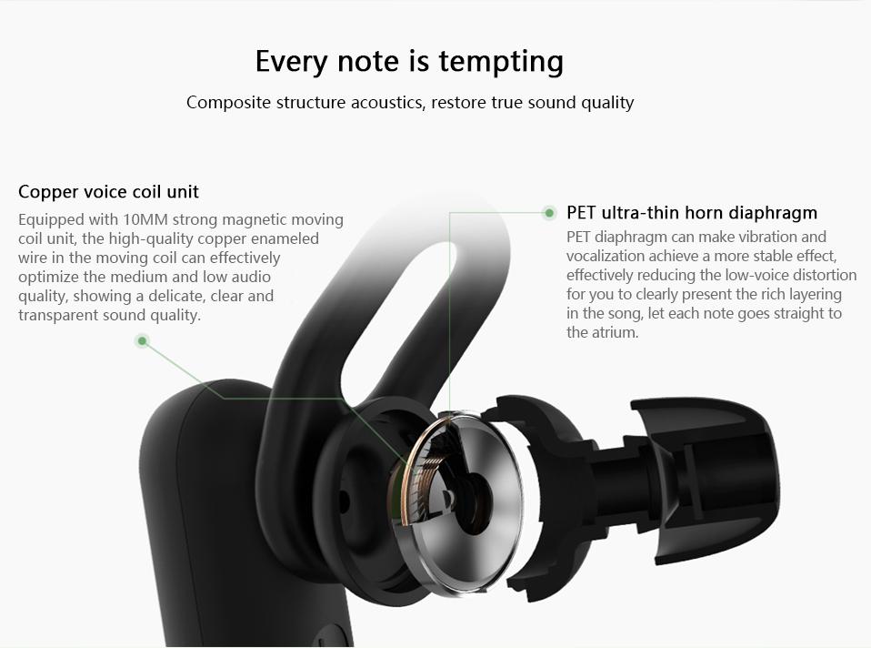 Xiaomi Youth Wireless bluetooth Earphone Noise Cancelling Waterproof Sports Headphone with MEMS Mic 22