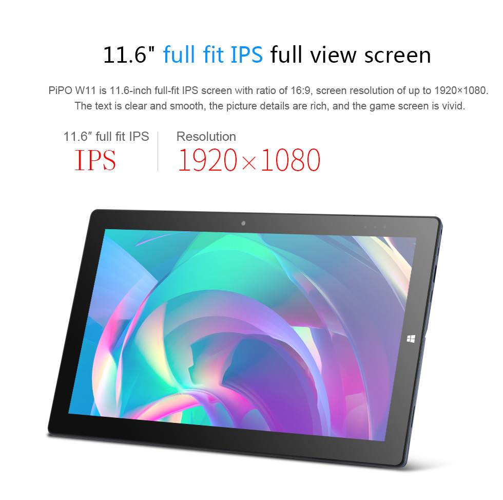 Original Box PIPO W11 Intel Celeron N4100 4GB RAM 64GB Emmc+256GB SSD 11.6 Inch Windows 10 Tablet With Keyboard Stylus