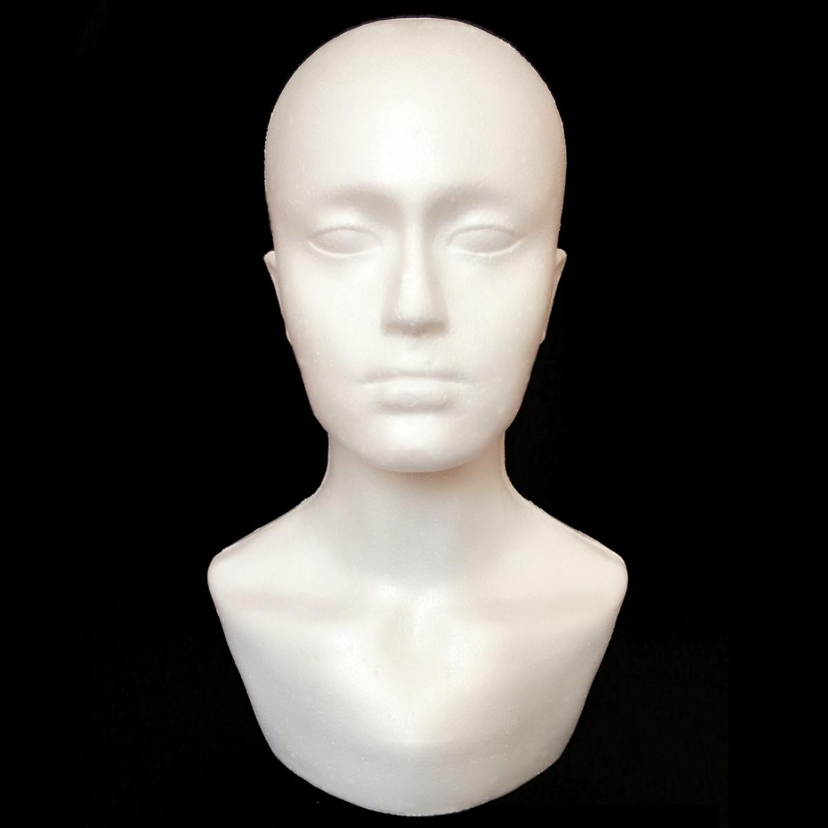 Мужской полистирол пена манекен Стенд Модель Дисплей Голова