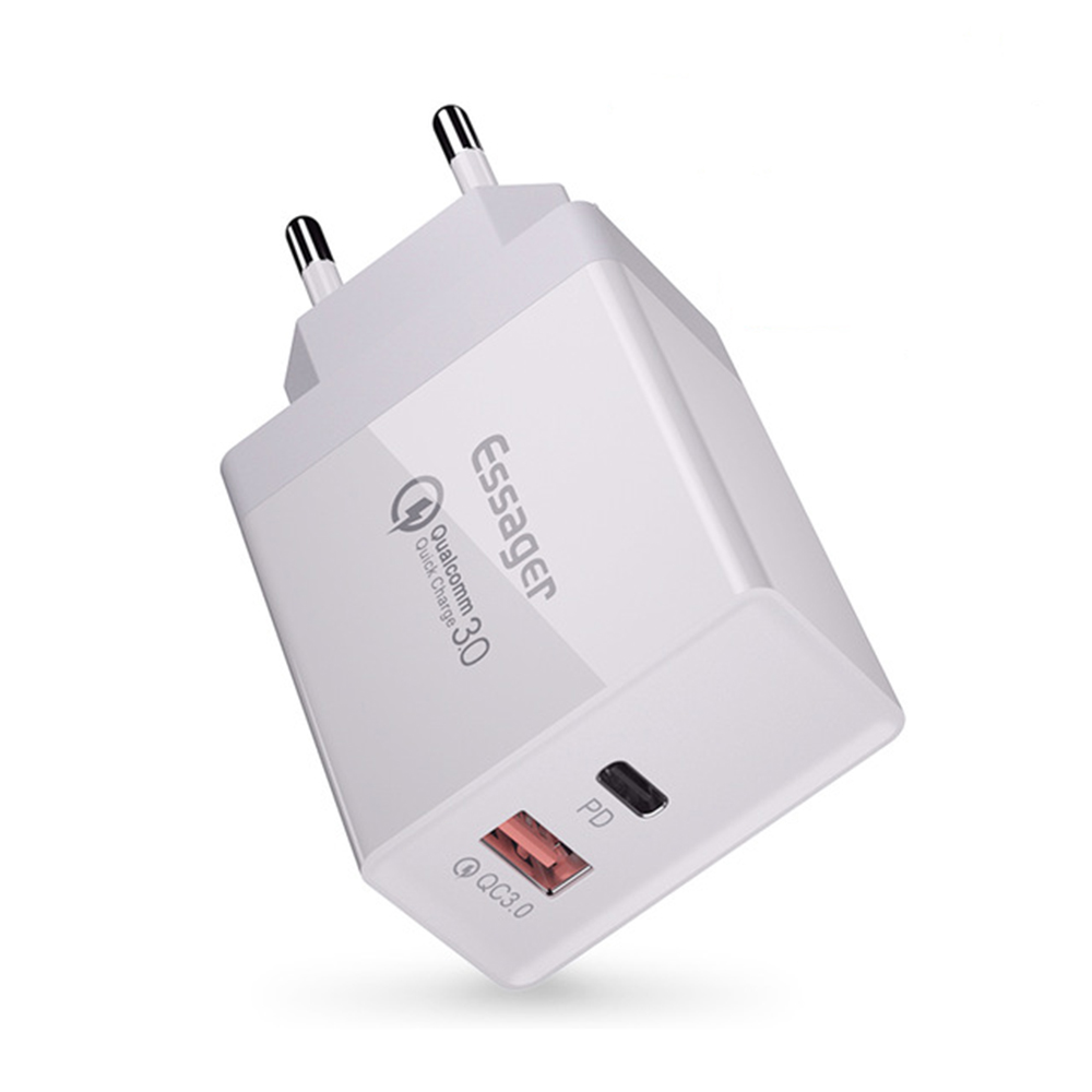 Essager 36W Type C PD Fast Charging Port + USB QC3.0 Qu