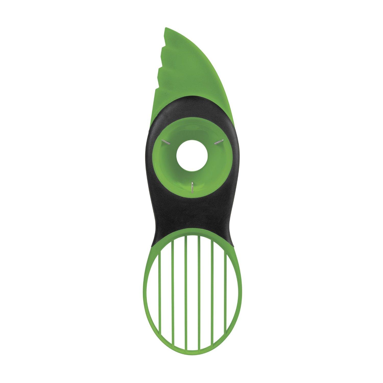 3в1зеленыйAvocadoSlicer Peeler Инструмент Пластиковый Corer с ручкой Comfort-Grip