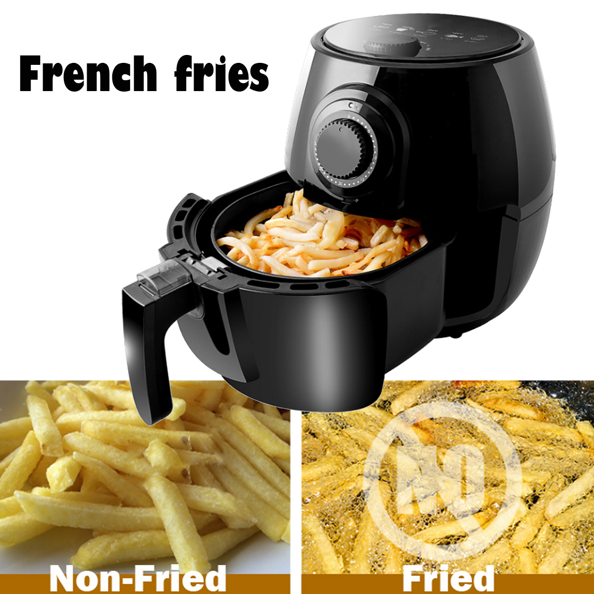 4.5L 1300W Electric Air Fryer Oilless Heathly Cooker French Fried No Oil Fryer