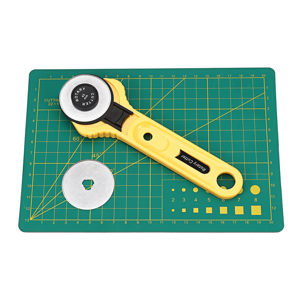 45mm Rotary Cutter Blades Cutting Mat Clip Quilters Sewing Fabric Leather Craft Tools Kit