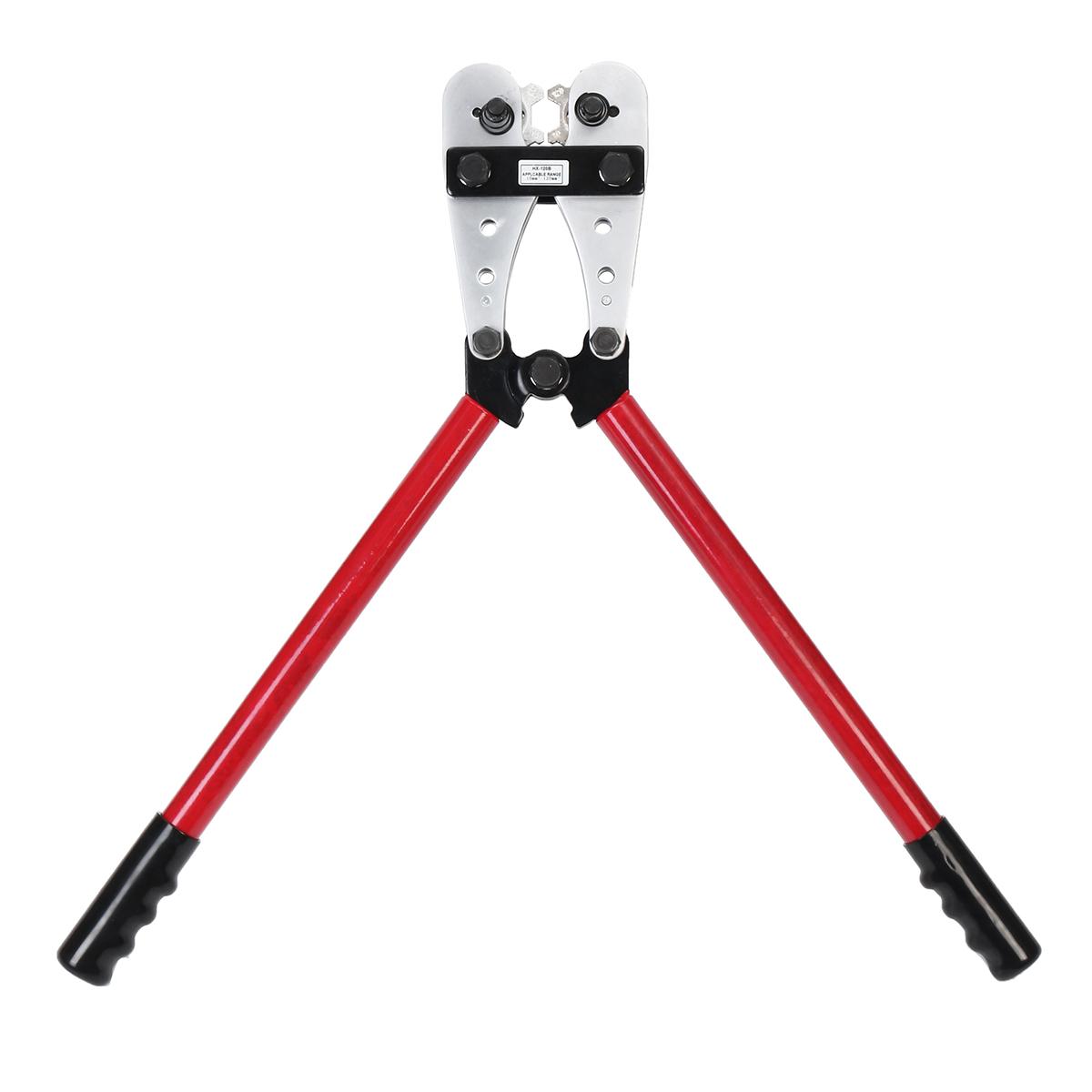 Купить со скидкой 10-120mm² Cable Wire Plier Crimper Plier Crimping Cutter Tool Terminal Lug HX-120B Y.O