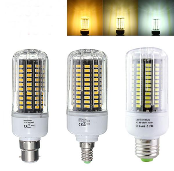 E27 E17 E14 E12 B22 12W 120 SMD 5736 1200Lm LED White Warm White Natural White Corn Bulb AC85-265V