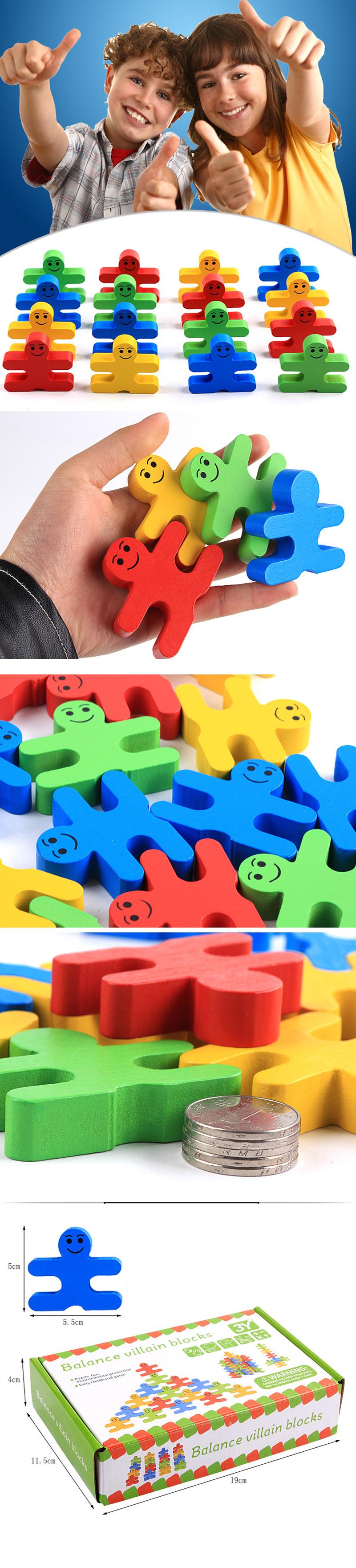 Wooden Creative Cartoon Balance Building Blocks Children's Educational Wooden Blocks Toys Kindergarten Teaching Aids  (#0)
