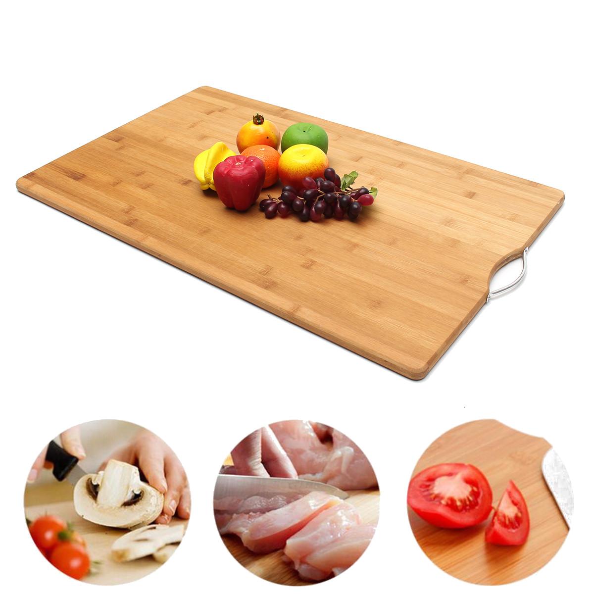 ExtraLARGECarbonisedKitchenбамбуковыйCutting Chopping Board с Крюк кухонной разделочной доской