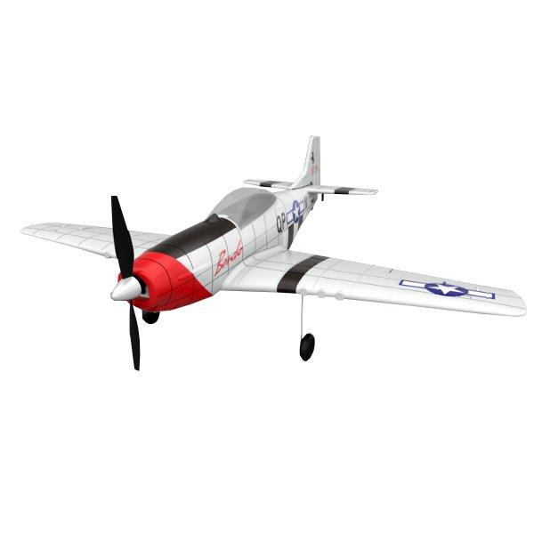 P51 2.4G 4CH 6-Axis Gyro Easy Flying Trainer 500mm Wingspan EPO Warbird RC Airplane RTF