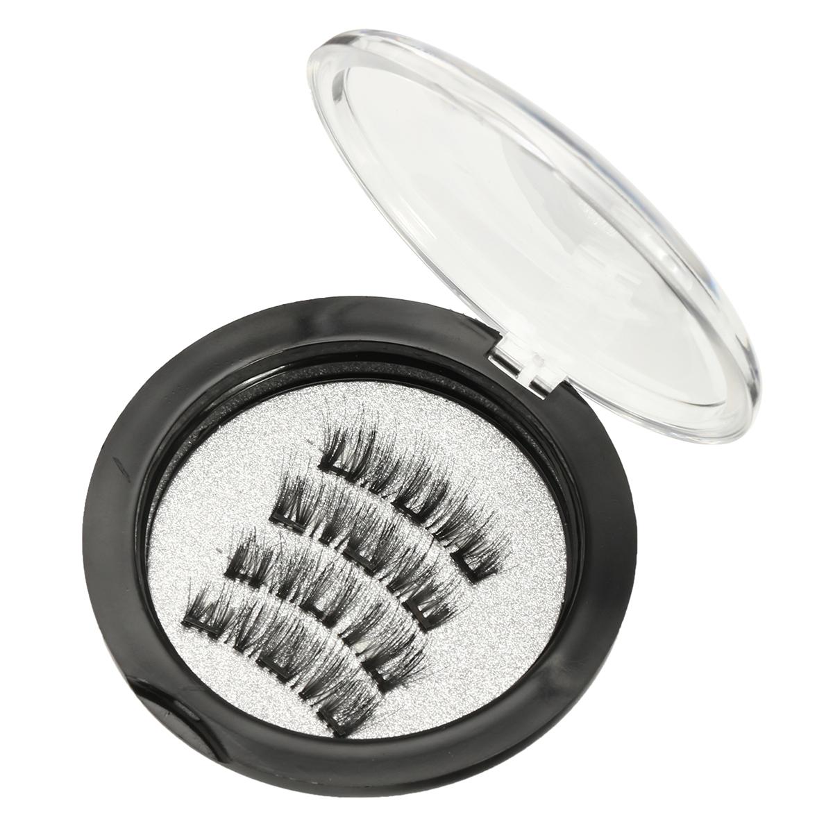 4pcs Triple Magnetic False Eyelashes Charming 3D