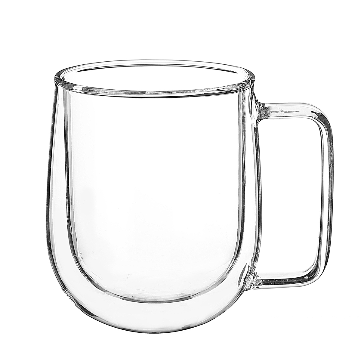 e021a5d1df2 300ml glass coffee tea cup heat resistant double layer glass handle ...