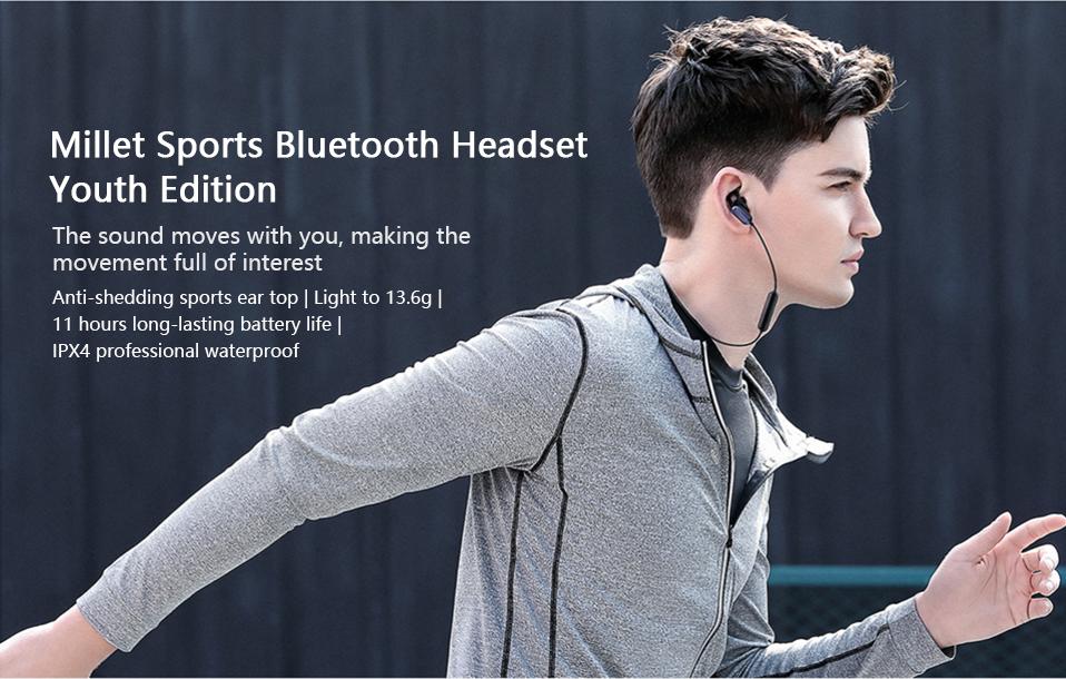Xiaomi Youth Wireless bluetooth Earphone Noise Cancelling Waterproof Sports Headphone with MEMS Mic 16