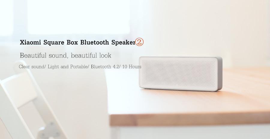 Original Xiaomi Square Box Ⅱ 1200mAh AUX Line-in Hands-free Wireless Bluetooth V4.2 Speaker With Mic