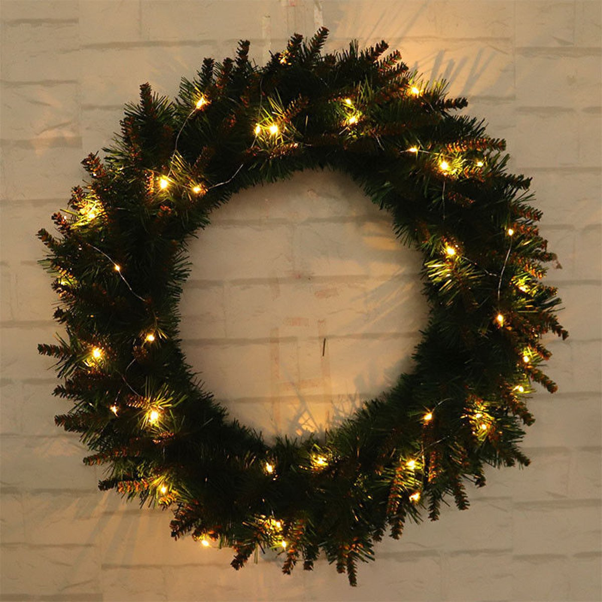 new concept 9c75f 6df68 LED Light Christmas Wreath Tree Door Wall Hanging Party Garland Decorations