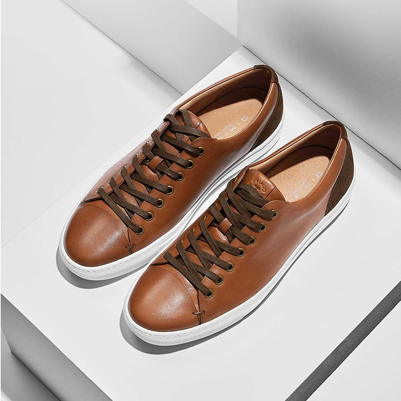 QIMIAN Men Leather Absorb Sweat Low Help Casual Sport Board Shoes Hiking Shoes Sneakers From Xiaomi Youpin
