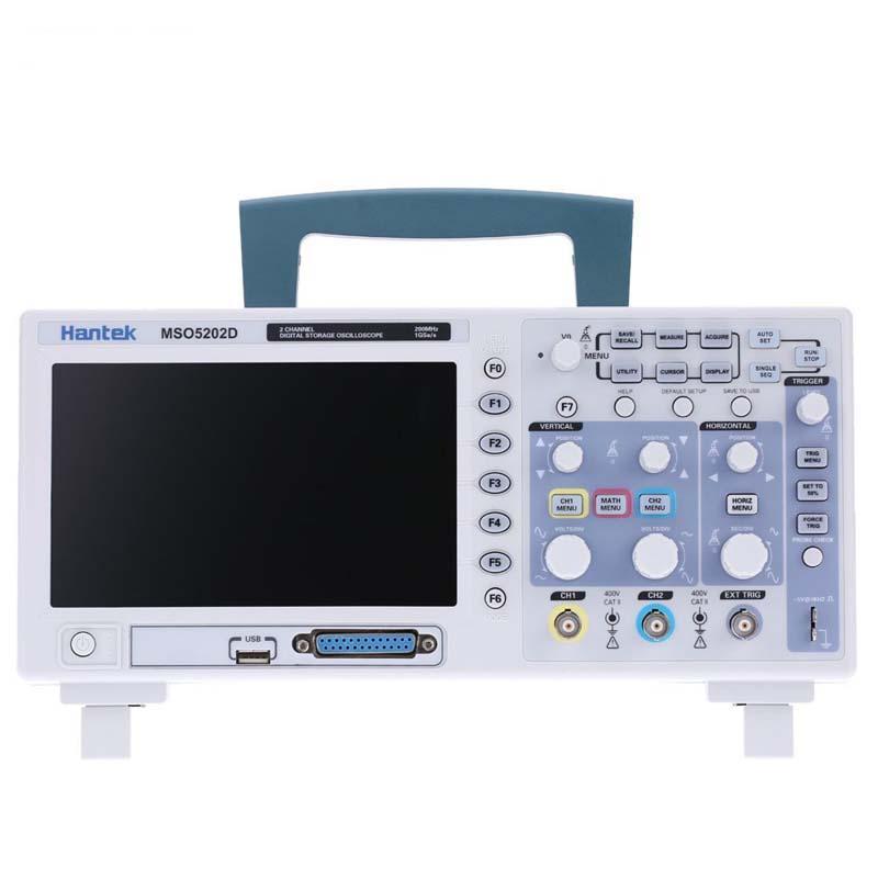 Hantek MSO5202D 2 in 1 Digital Осциллограф 200MHz 2 канала 1GSa / s + 16-канальный логический анализатор