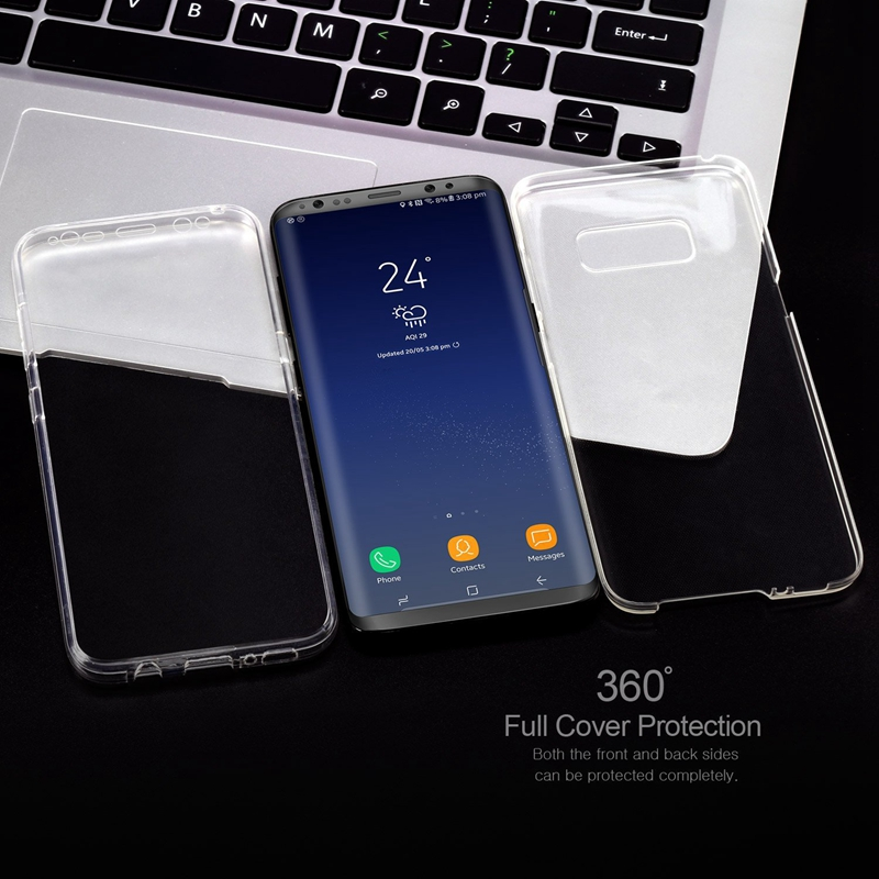 the best attitude 1a1a6 cc4cb Full Body Clear Touch Screen Case For Samsung Galaxy Note 8