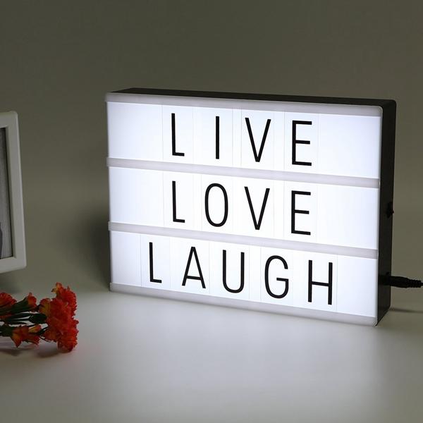 LED USB Night Light Коробка с A4 Letter Card DIY Комбинация для Свадебное Party Christmas Decor
