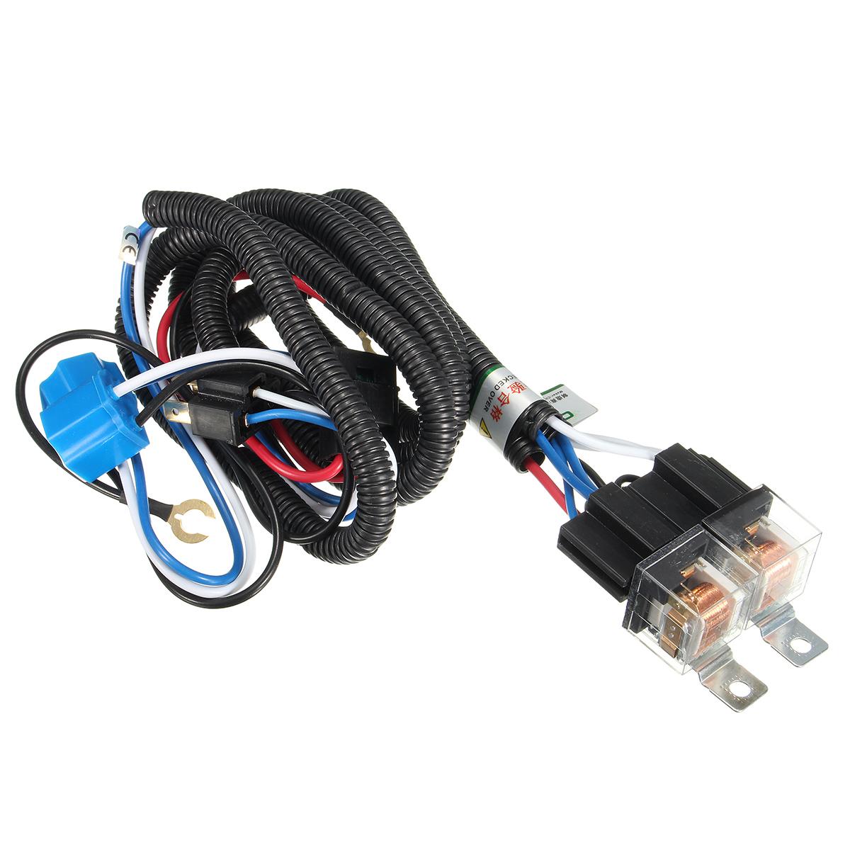 12V 7inch H4 Headlight 2 Headlamp Relay Wiring Ha