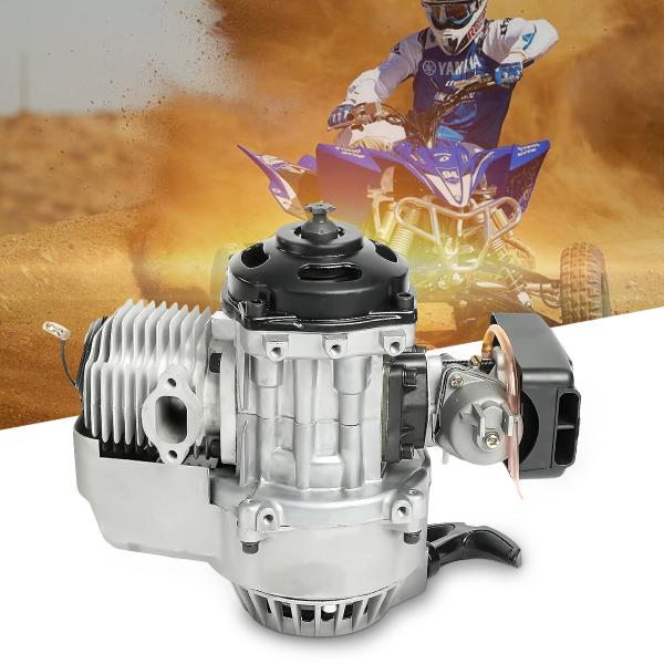 Leoie 49cc 2 Stroke Pull Start Engine Motor Mini Pocket Pit Quad Dirt Bike ATV 4 Wheel Accessory