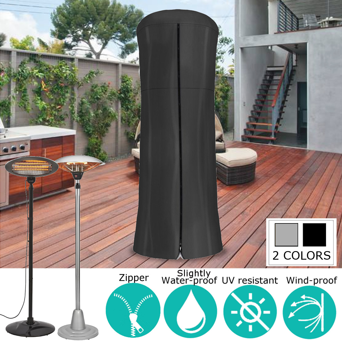 Admirable 86 6X38 Patio Heater Heavy Duty Waterproof Heater Vinyl Cover Garden Outdoor Furniture Cover Creativecarmelina Interior Chair Design Creativecarmelinacom