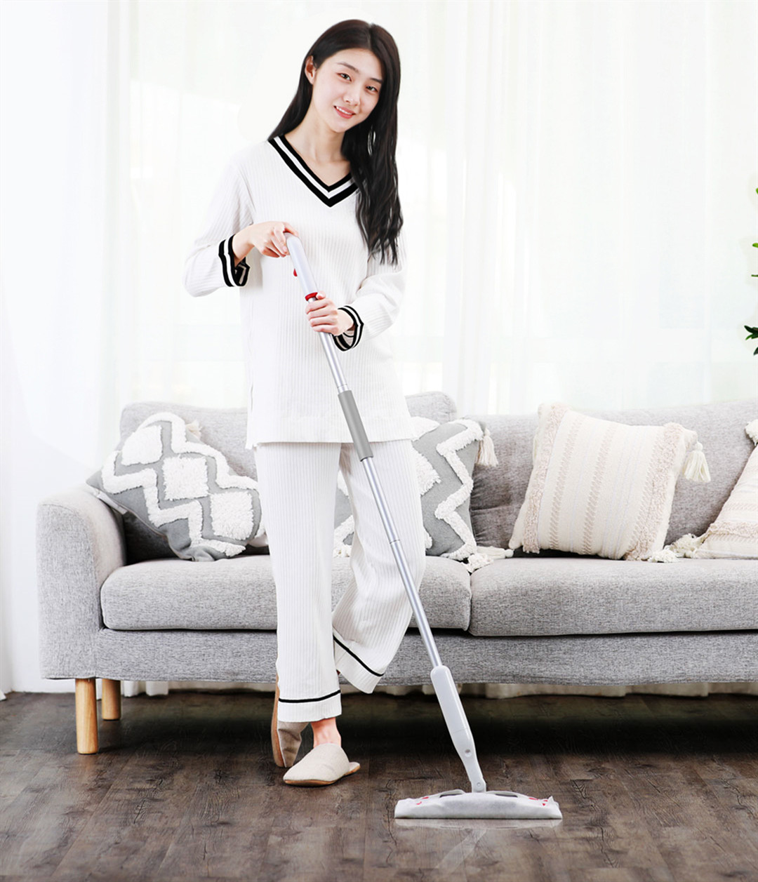 YIJIE 2 In 1 Spray Floor Mop 360° Universal Rotating Home Cleaning Tools Non-woven Fabric from Xiaomi Youpin