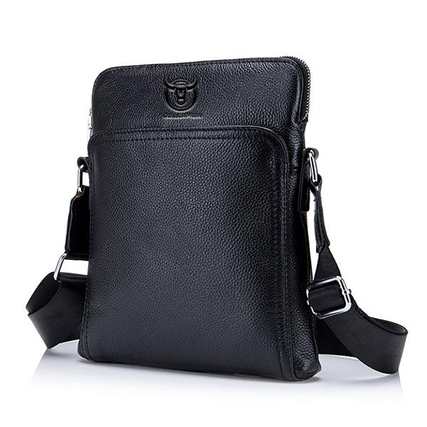 Bullcaptain Men Large Capacity Shoulder Crossbody Bag