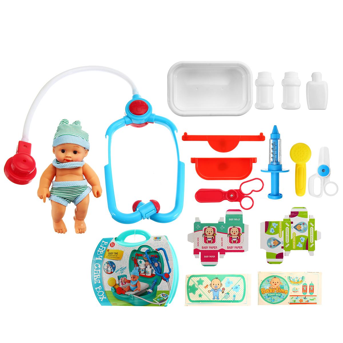 Дети Медицинская Стетоскоп Доктор Притвориться Ролевая игра Игрушка Медсестра дом Играть Набор Развивающие игрушки