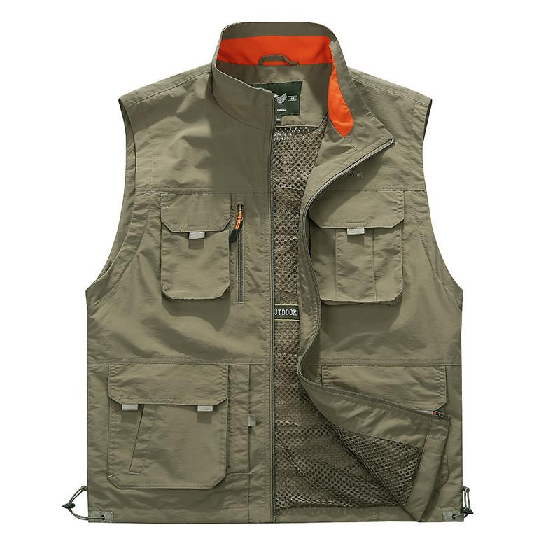 НаоткрытомвоздухеУтилитаPlusРазмер Multi Pockets Mesh Breathable Vest