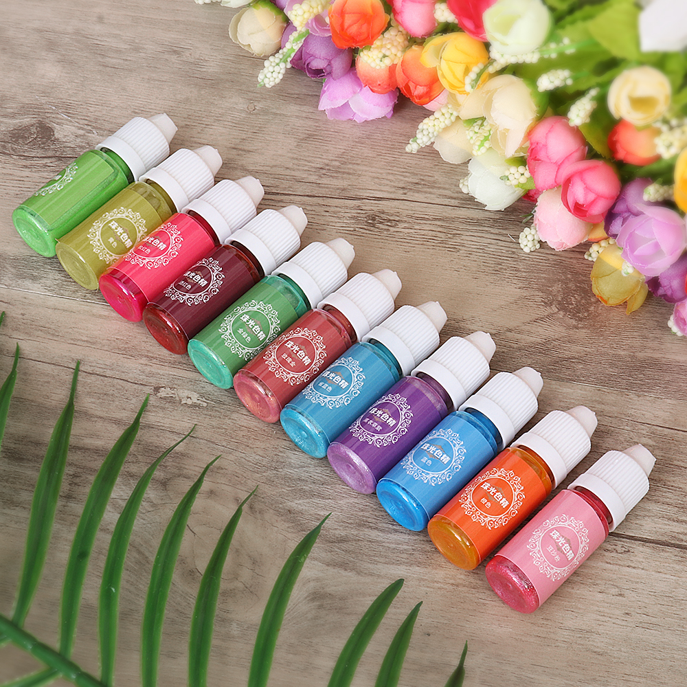 10mL Pearl Shiny Pigment 24 Colors UV Resin Epoxy Resin Glue Dye Colorant  DIY Jewelry Mould Making Crafts