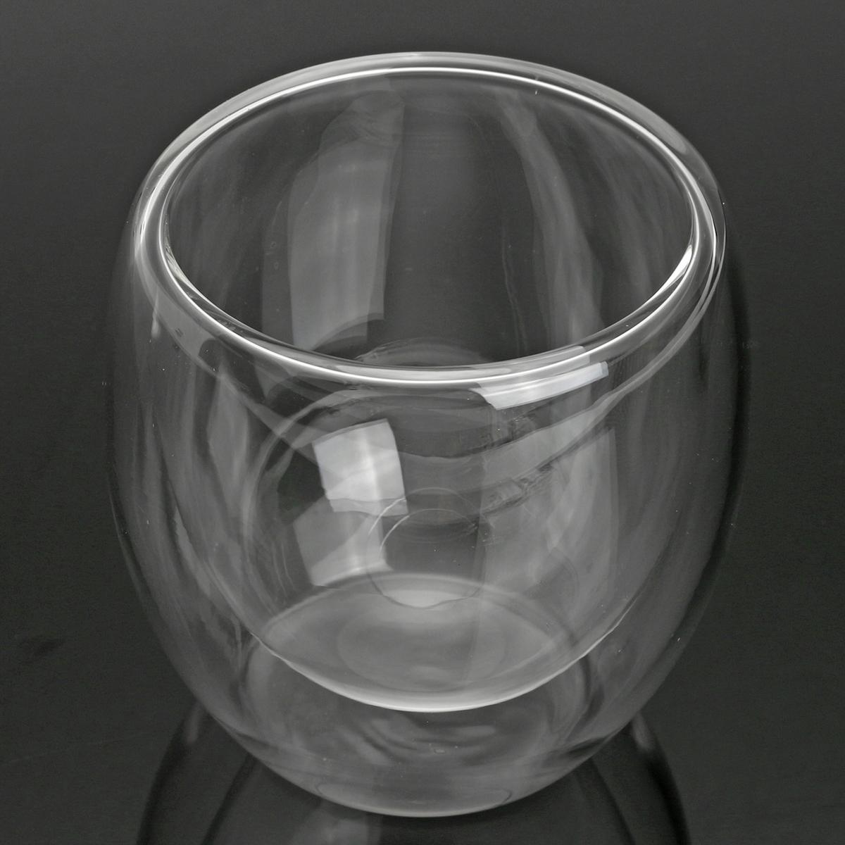 80 мл Прозрачное Стекло с Двустенной Чашкой Кружка Тепловой Тепловой Офис Чай Пить Чай Контейнер фото