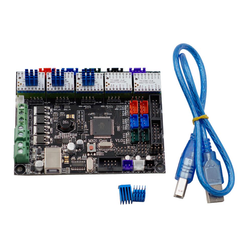 MKS-GEN L V1 0 Integrated Controller Mainboard + 5pcs TMC2208 V1 0 Stepper  Motor Driver Compatible Ramps1 4/Mega2560 R3 For 3D Printer