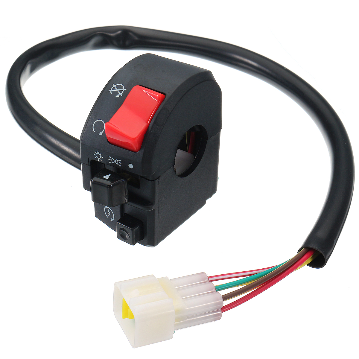 12V 7/8inch Motorcycle Handlebar Switch Turn Signal Light Horn Right Side