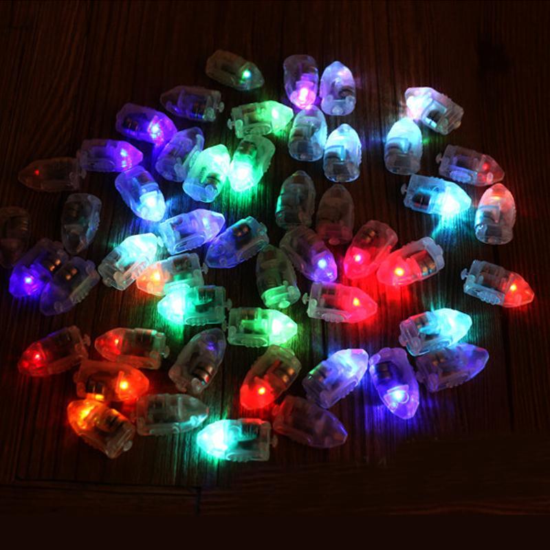 50Pcs / Lot LED Лампы Воздушный шар Свет для бумажного фонаря Воздушный шар Многоцветный рождественский праздничный декор