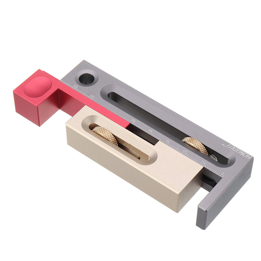 cc9fc556 956f 4449 af30 7ac5325d2004 HONGDUI Kerfmaker Table Saw Slot Adjuster Mortise and Tenon Tool Woodworking Movable Measuring Block