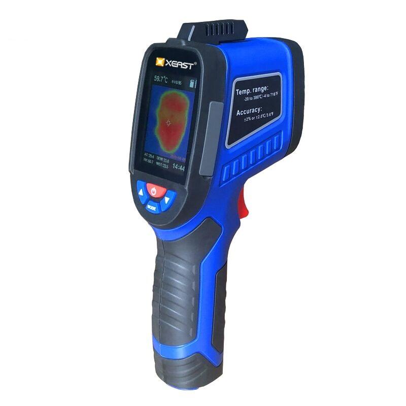 XEASTXE-27РучнаятепловизоркамераИнфракрасный Термометр 2,4-дюймовый LCD Экран с измерением температуры и влажности Тепловизор