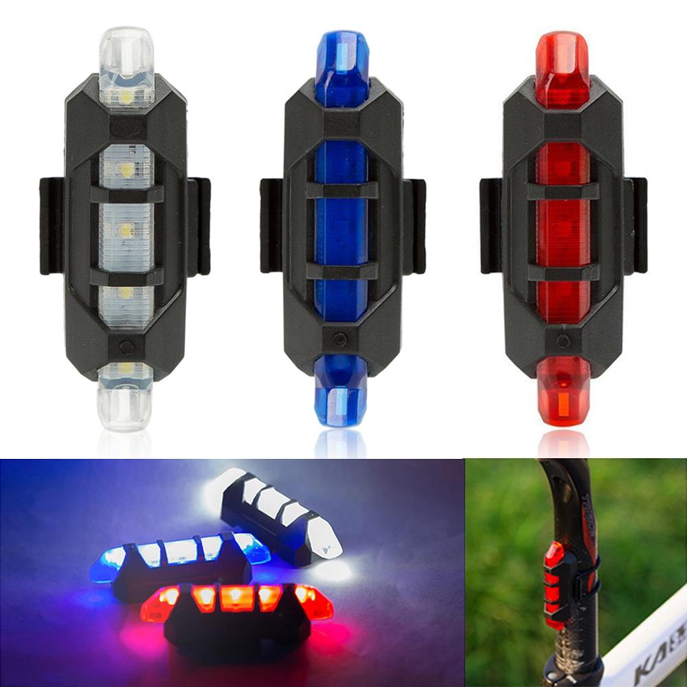 USB аккумуляторная велосипед LED Хвост света Велосипед безопасности Велоспорт Предупреждение Задняя Лампа