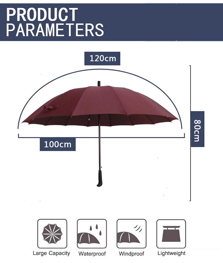 7e5302dfaab0 Honana HN-KU2 5 Color Auto Open Golf Umbrella Strong Windproof Outdoor  Stick Umbrellas With 16 Ribs
