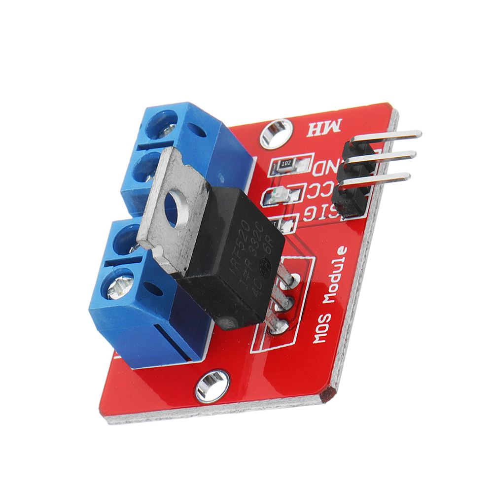 0-24V Top Mosfet Button IRF520 MOS Driver Module For  MCU ARM Raspberry Pi