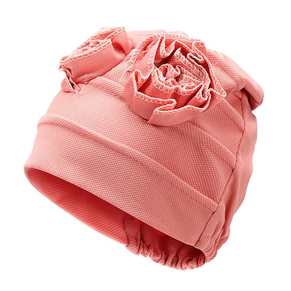 Women Flower Cotton Beanies Cap Solid Outdoor Windproof