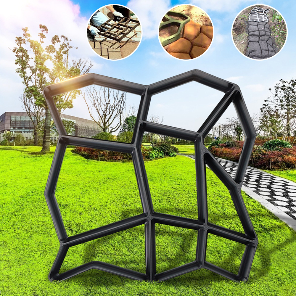 DIY Multi-function Plastic Paving Road Maker Mold Concrete Stepping Stone  Cement Brick Mould