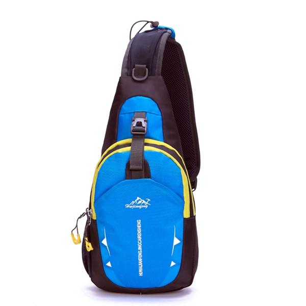 Мужчины Женщины нейлон водонепроницаемый мешок Crossbody Открытый Спорт Повседневная сумка Грудь